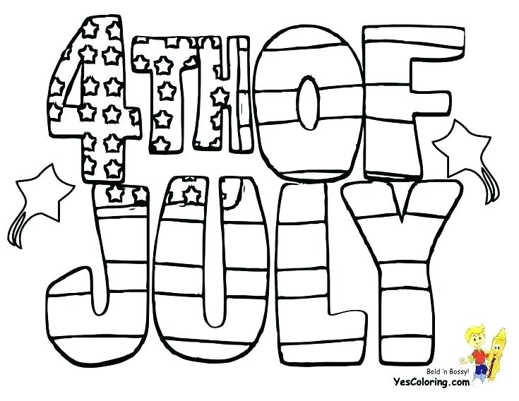 735x568 Of July Coloring Pages
