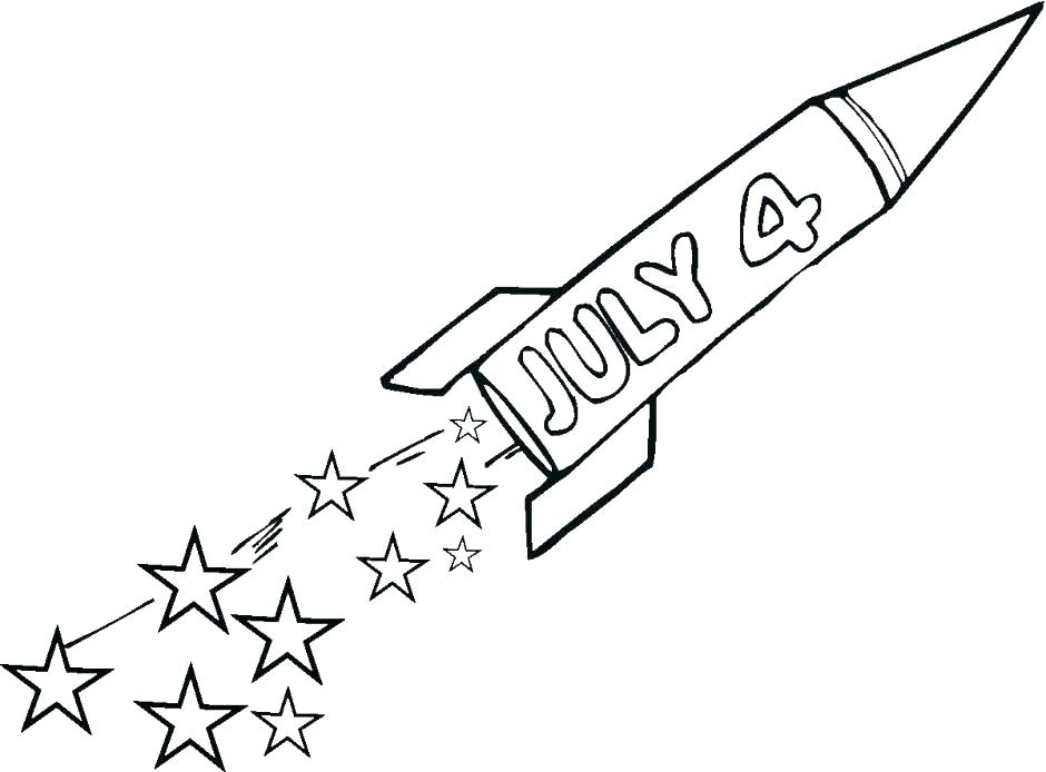 940x694 Celebrate New Year With Fireworks Coloring Page Download Print