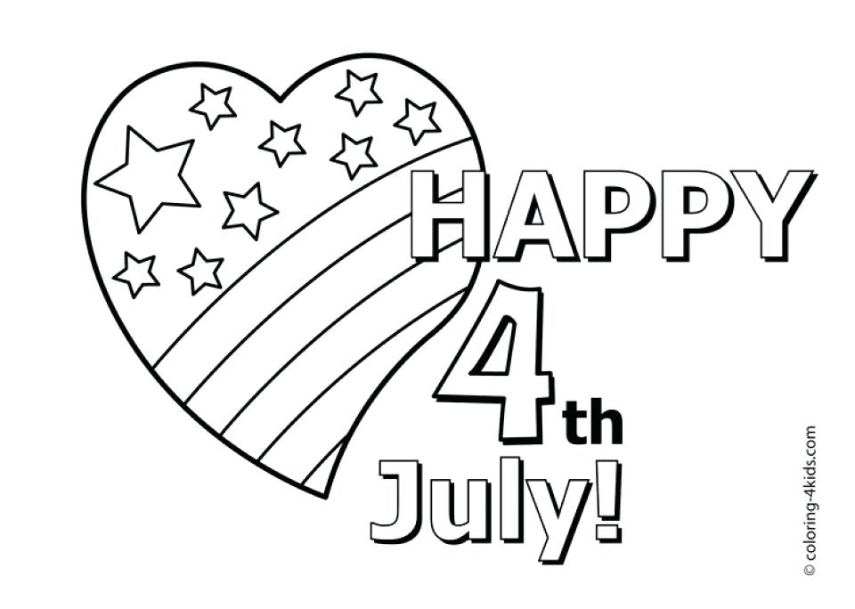 960x684 Fourth Of July Coloring Pages Happy Of Coloring Pages Of July