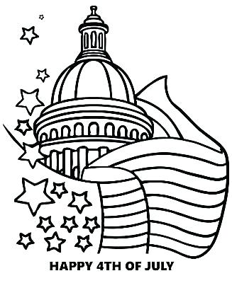 327x400 Fourth Of July Coloring Pages Happy Of Poster Coloring Page