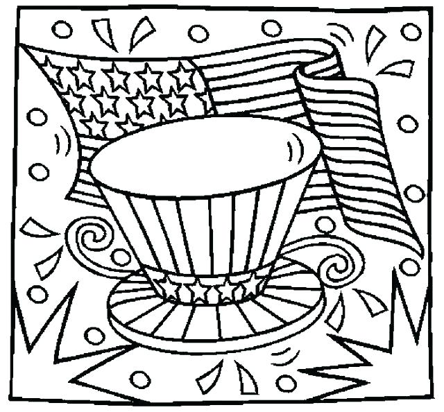 640x594 Of July Coloring Pages Of Heart Flag Coloring Page July