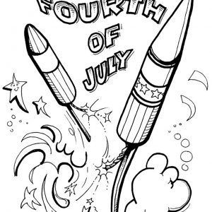 300x300 Of July Coloring Pages Preschool Best Of July Rocket