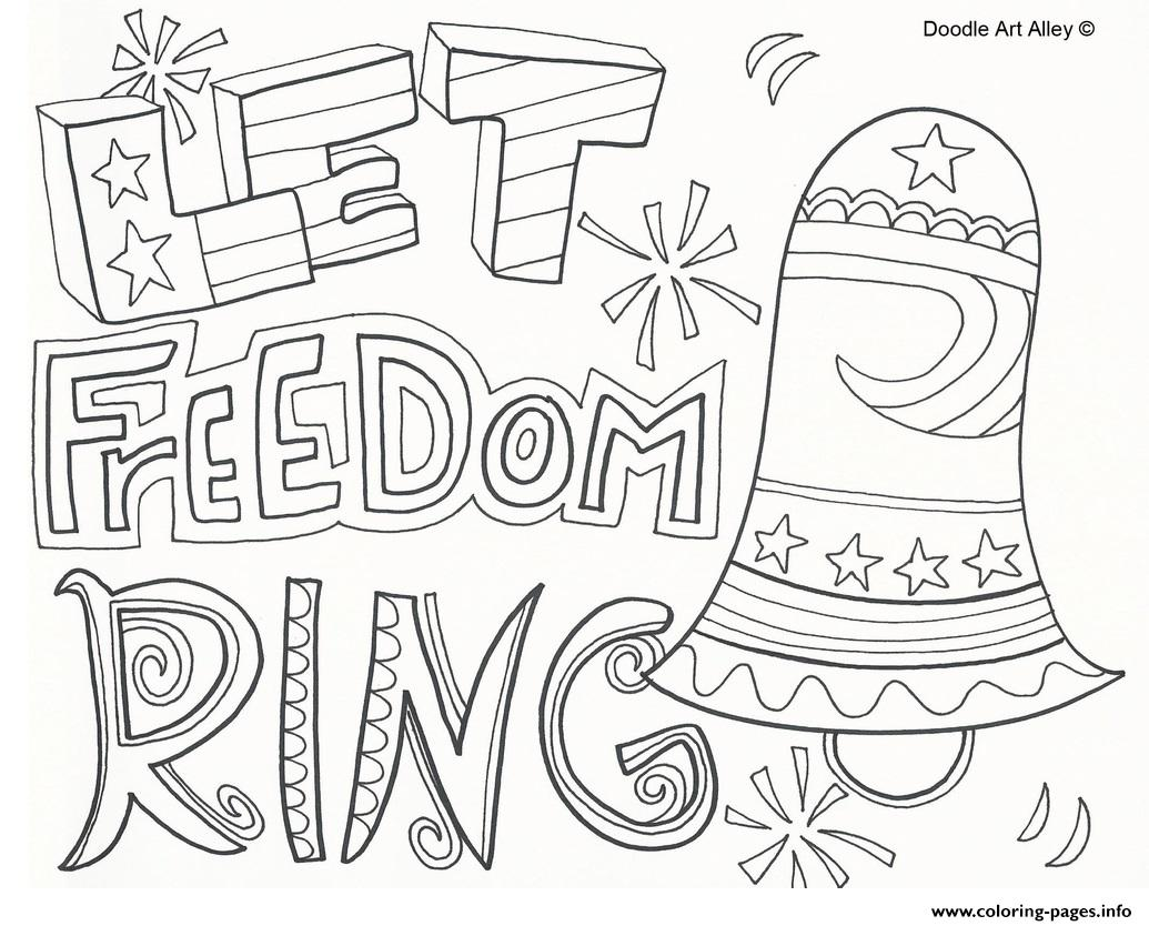 1035x834 Let Freedom Ring July Coloring Pages Printable