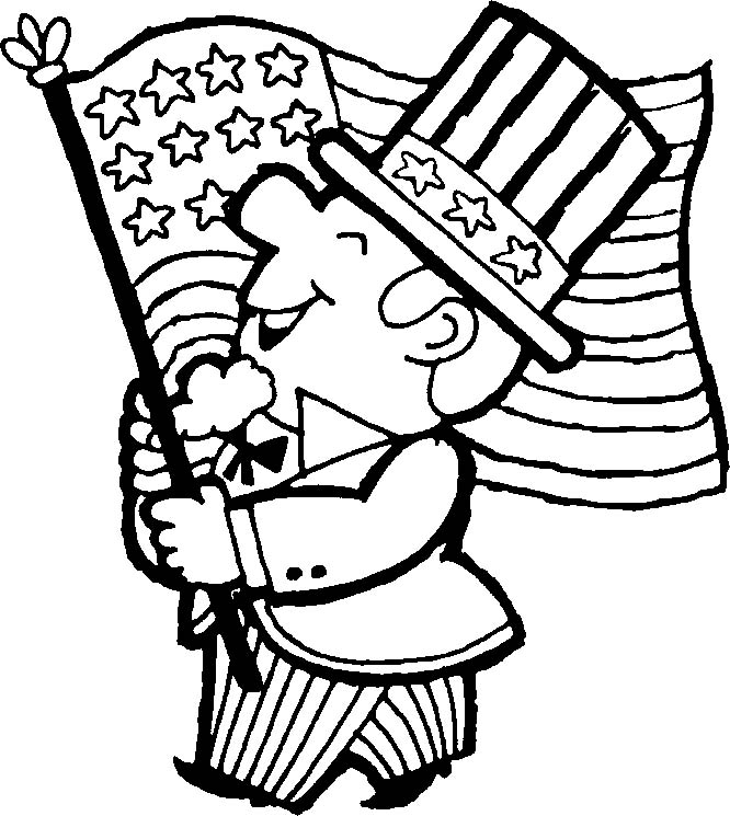 666x745 Of July Flag Coloring Pages