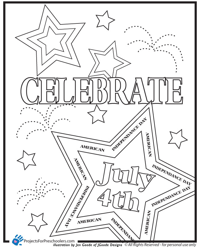Fourth Of July Printable Coloring Pages at GetDrawings.com ...