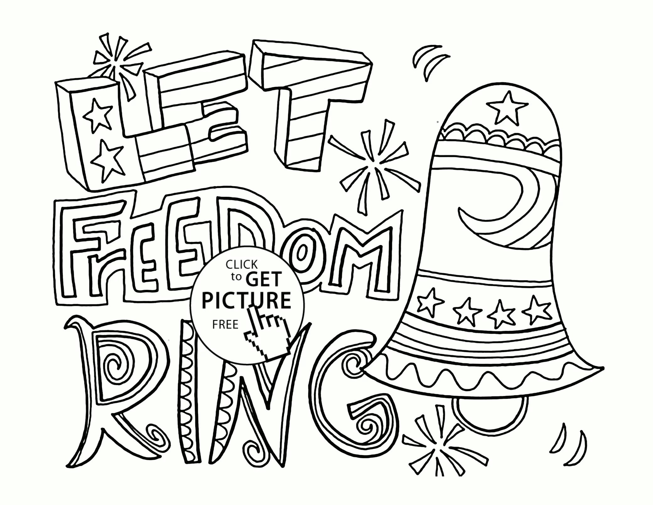 Fourth Of July Printable Coloring Pages At Getdrawings
