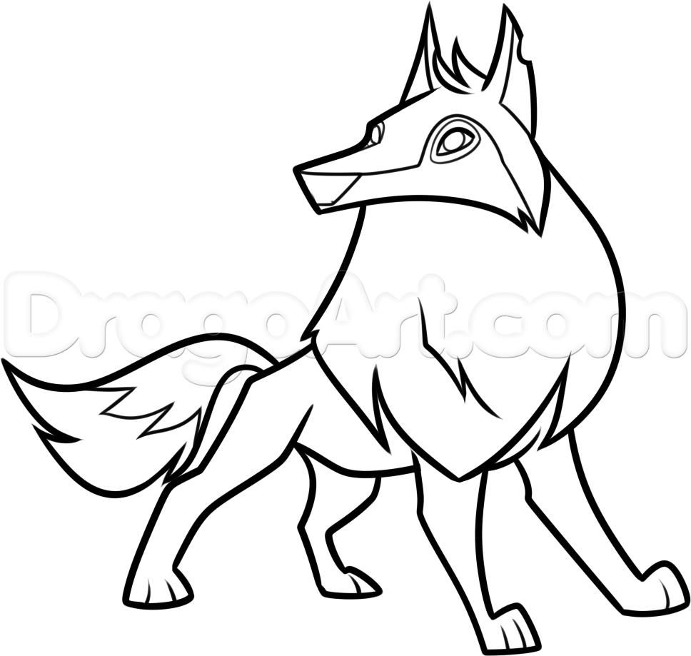 Fox And Wolf Coloring Pages