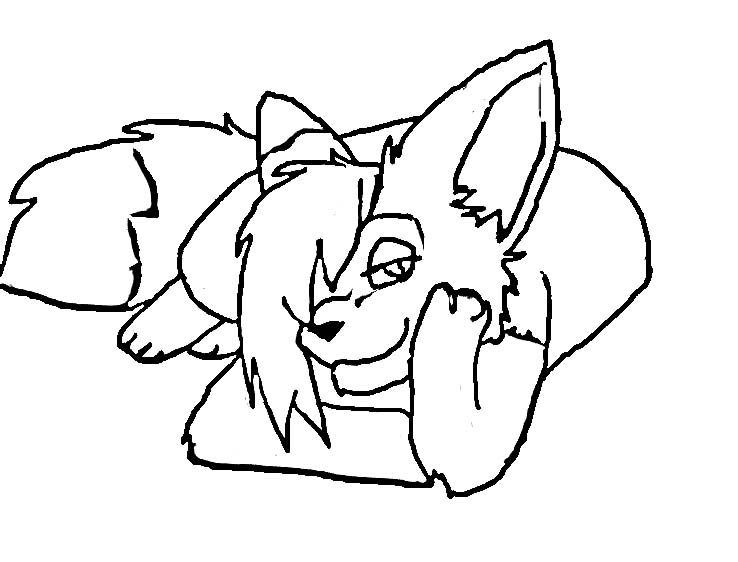 738x562 Fox Girl Coloring Page