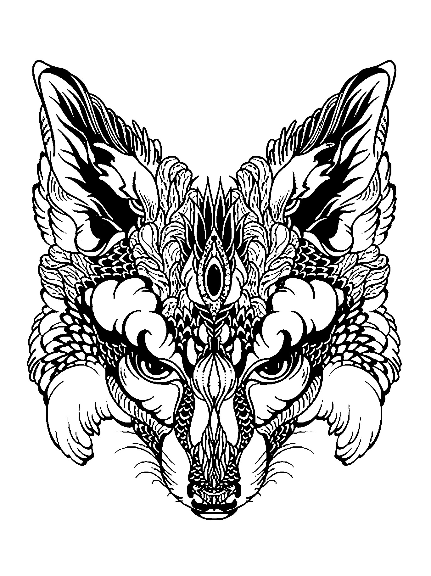 Fox Coloring Pages At Getdrawings Free Download