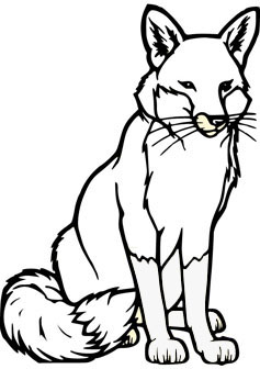 Fox Coloring Pages at GetDrawings.com | Free for personal use Fox ...