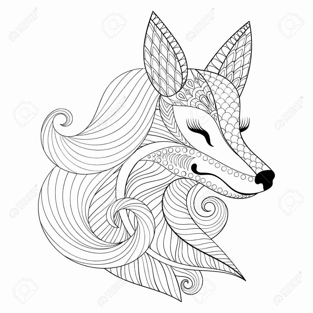 1299x1300 Fox Foxes Coloring Pages For Adults Justcolor Amazing Adult