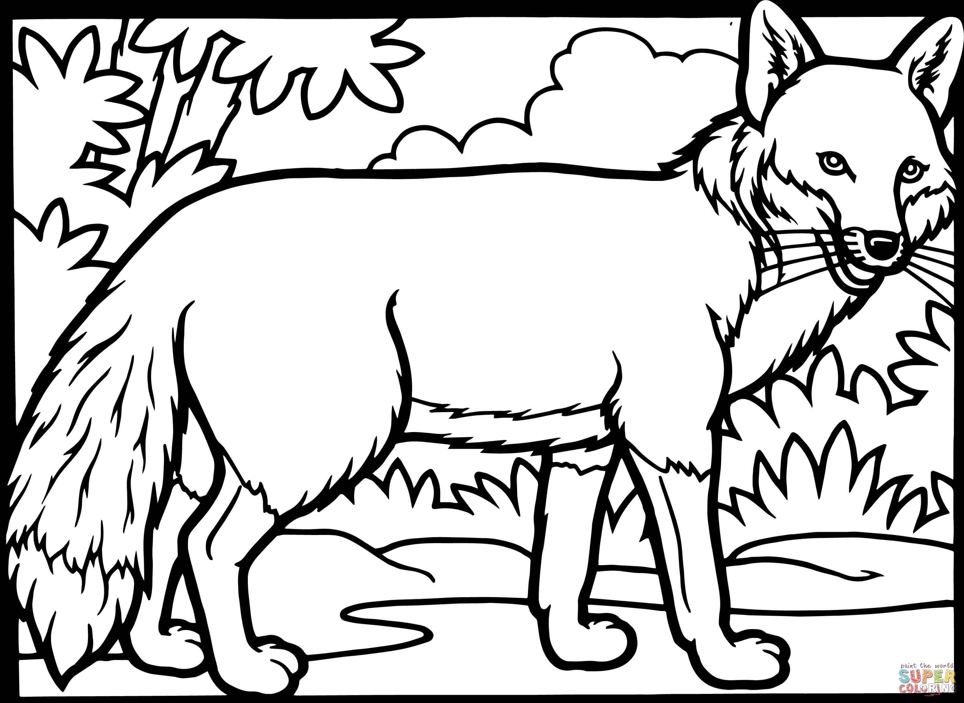 Fox Coloring Pages For Adults At Getdrawings Com Free For