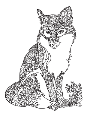300x388 New Adult Coloring Pages Christmas, Fox, Horse, Whale, And More