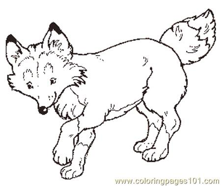450x378 Free Printable Fox Coloring Pages