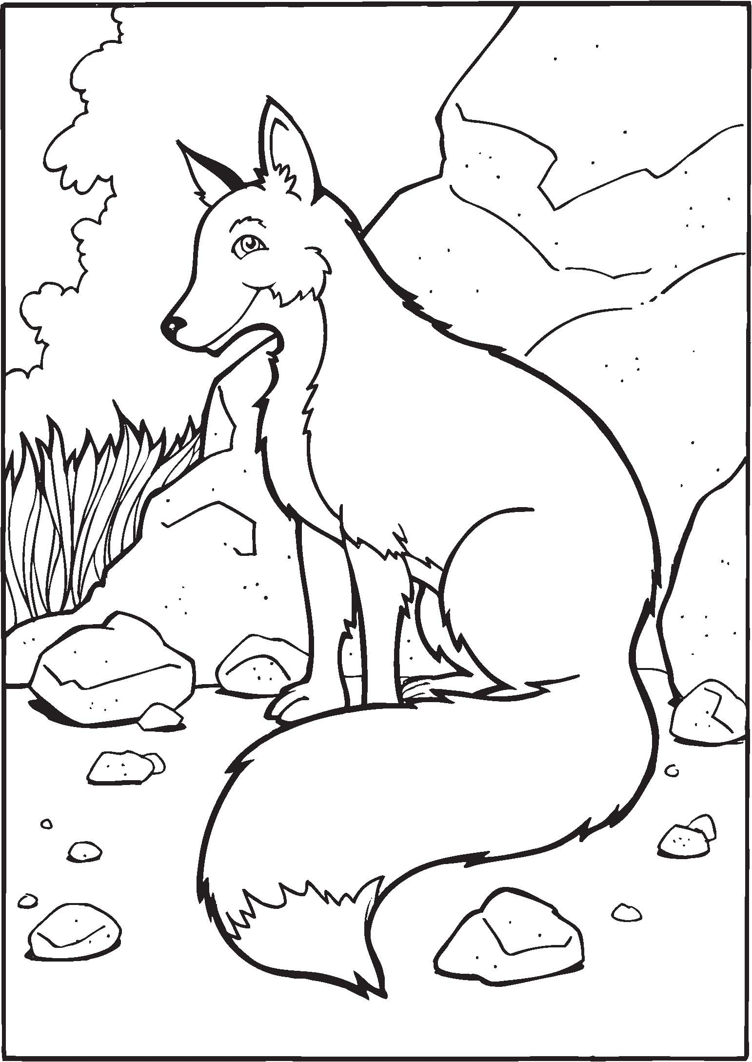 1542x2178 Fresh Coloring Pages Red Fox Coloring Page Color Animals