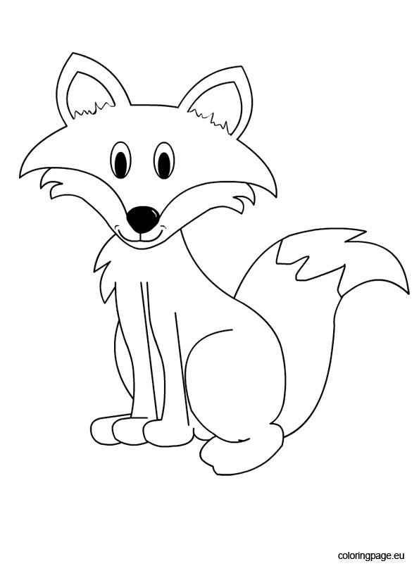 595x804 Nice And Cute Fox Coloring Pages Images For Kids