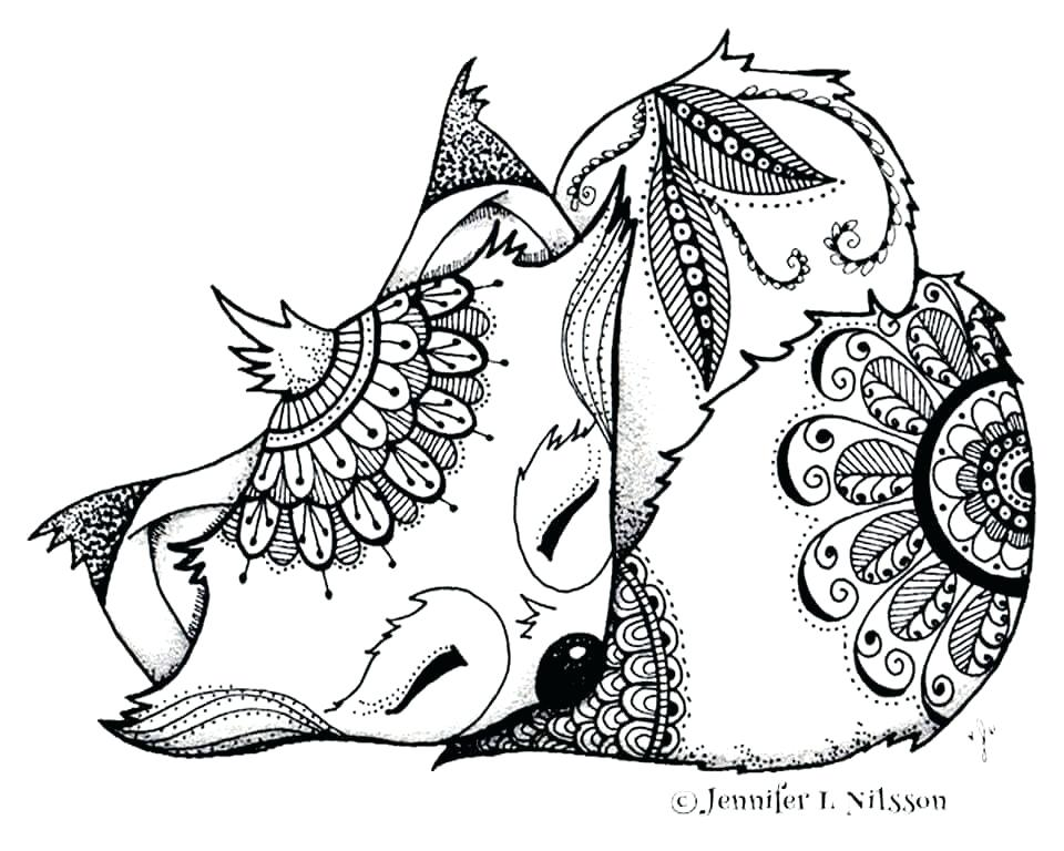 960x768 Fox Coloring Pages Baby Fox Coloring Pages Red Fox Coloring Pages