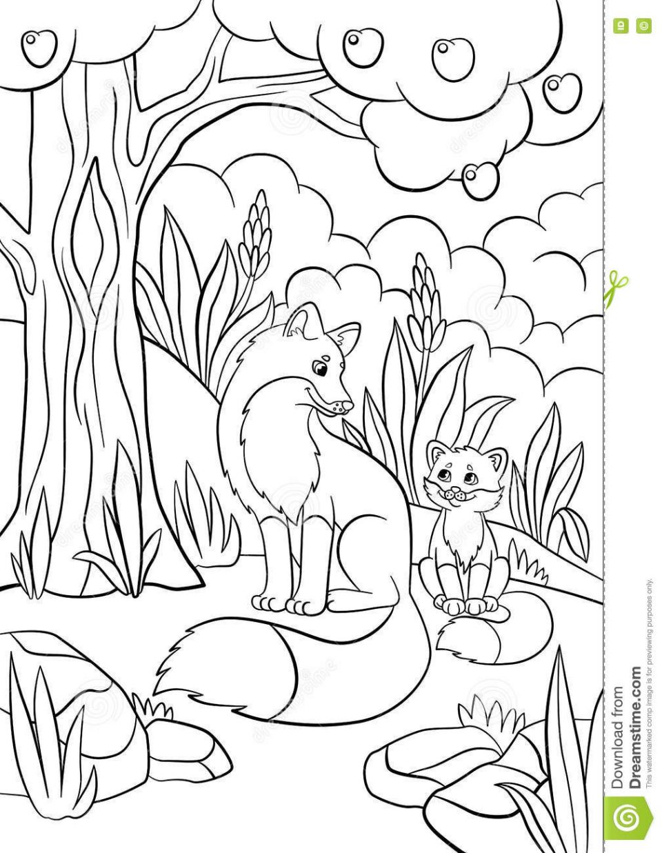 960x1237 Fox Coloring Pages For Preschoolers Printable Adults In Socks Free