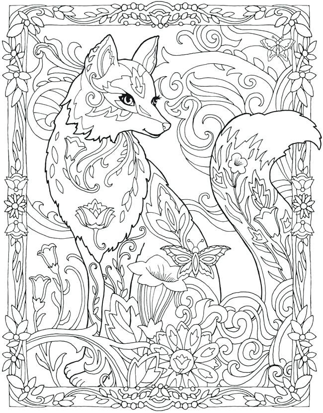 650x829 Fox Coloring Pages Love Coloring Pages Of Foxes Best Fox Page