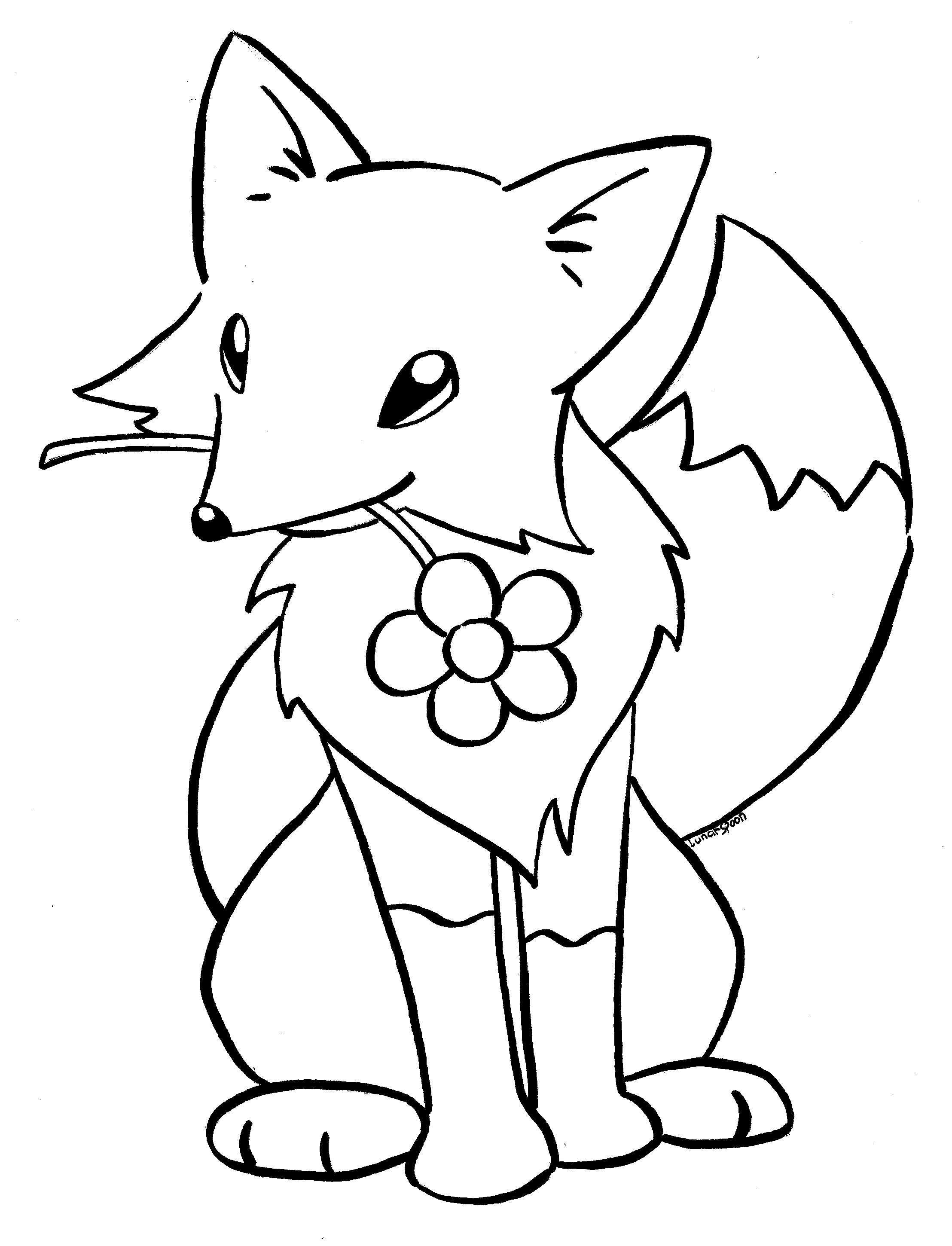 2216x2900 Cute Baby Fox Coloring Pages