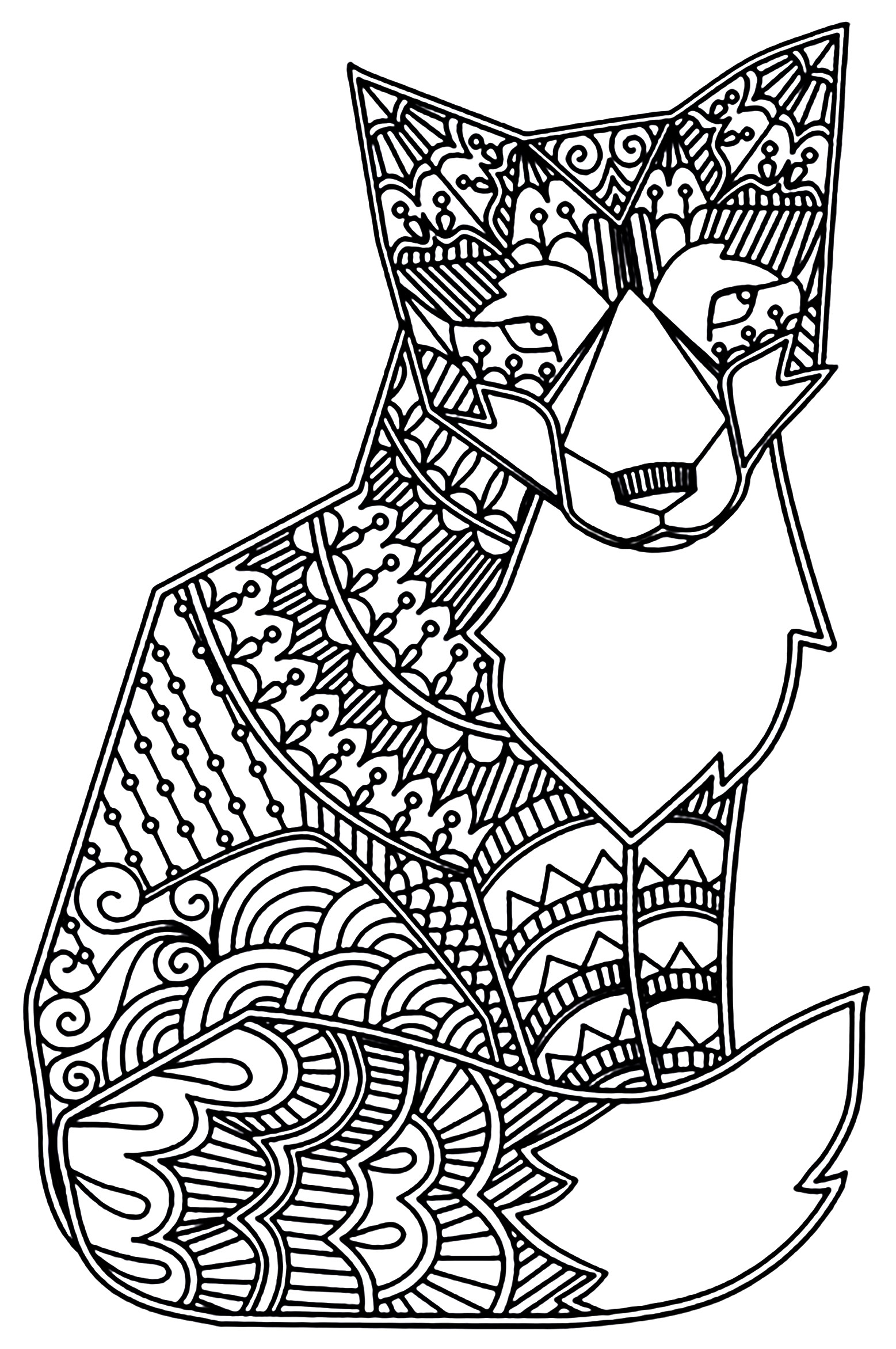 1557x2343 Fox Coloring Pages Free Printable For Kids