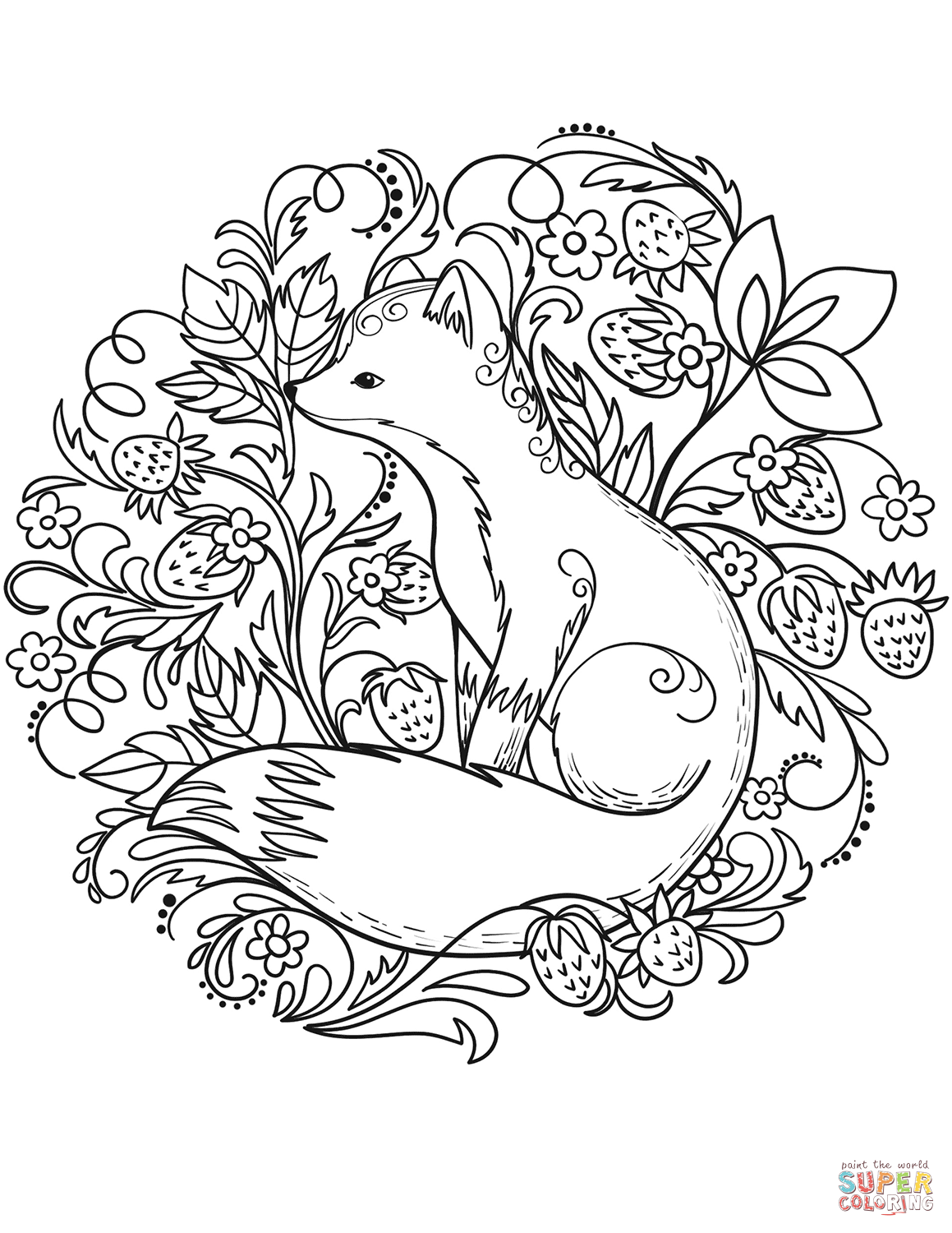 1159x1500 Fox Coloring Pages Page Free Printable