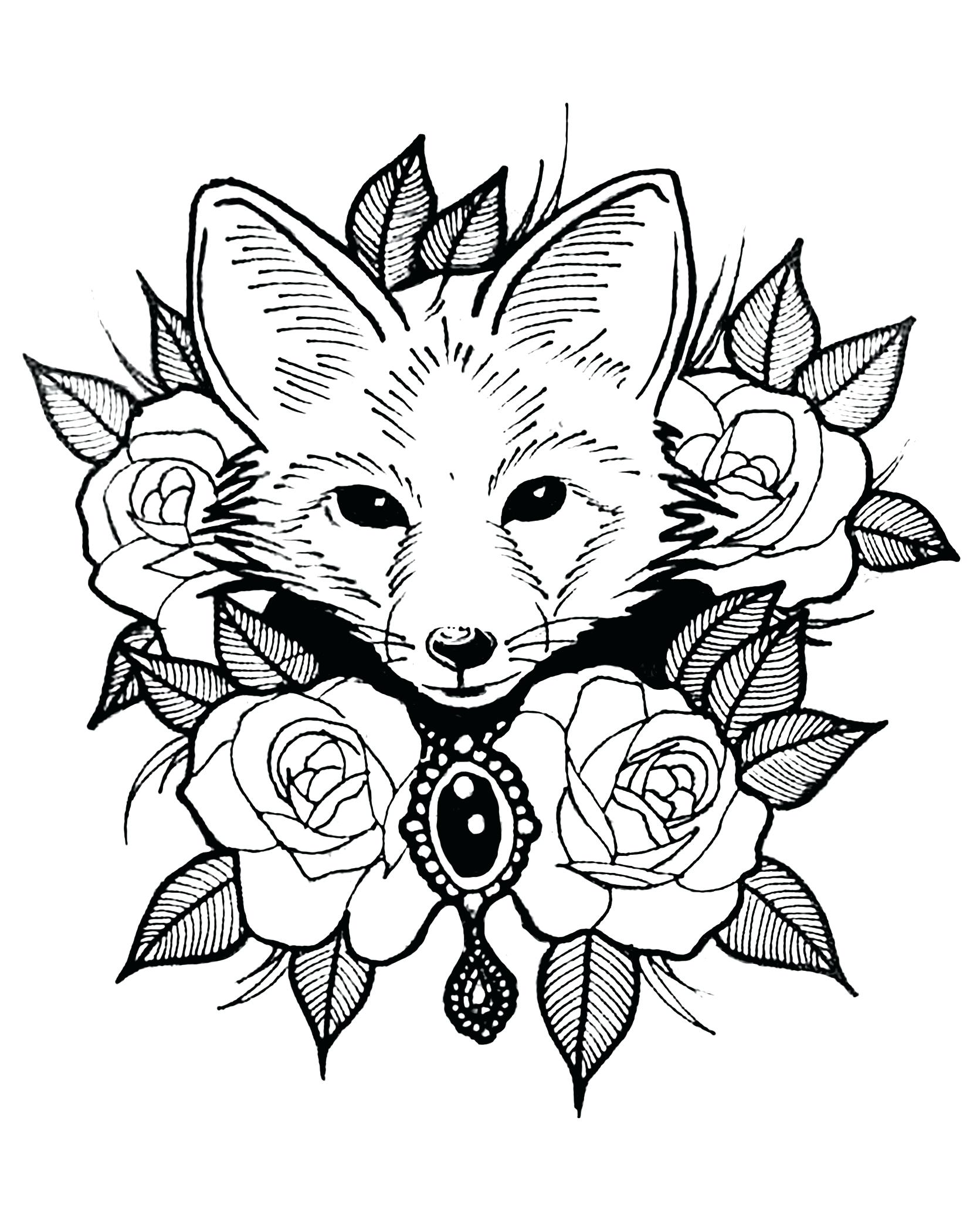 1671x2083 Imagination Fox Pictures To Print Coloring Pages Of Foxes Coloring