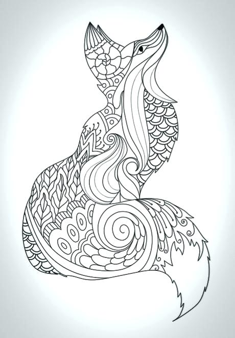 460x659 Printable Coloring Pages For Kids Fox Coloring Pages Free