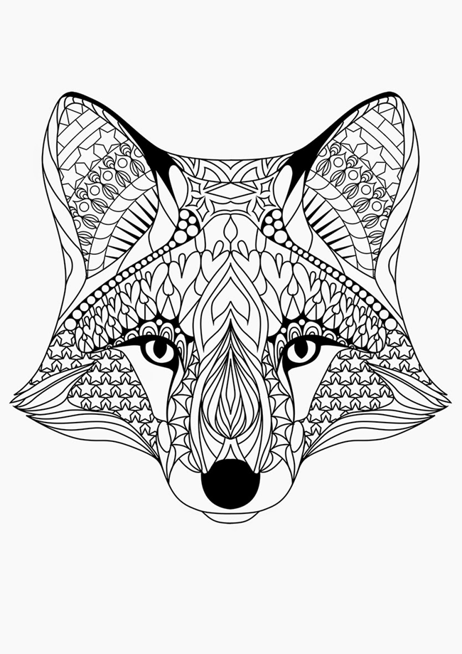 650x919 Printable Fox Coloring Pages