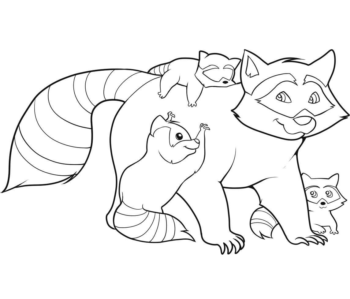 1144x977 Cute Raccoon Coloring Pages Coloring Fun Time
