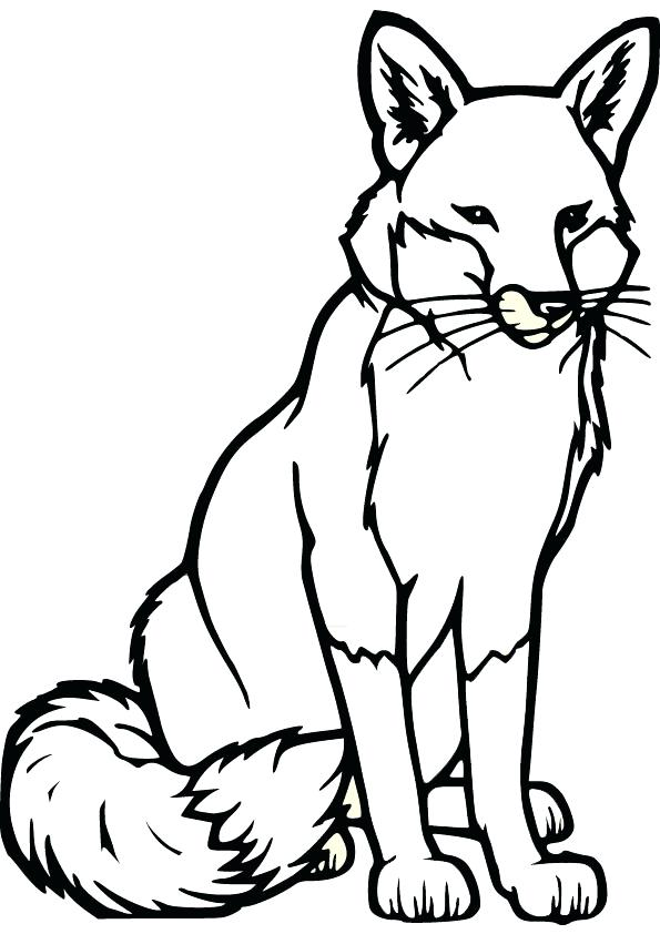 595x842 Fox Coloring Pages Cute Baby Fox Coloring Page Fox Racing Coloring