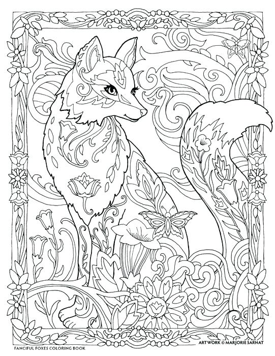 Fox Coloring Pages To Print At Getdrawings Free Download
