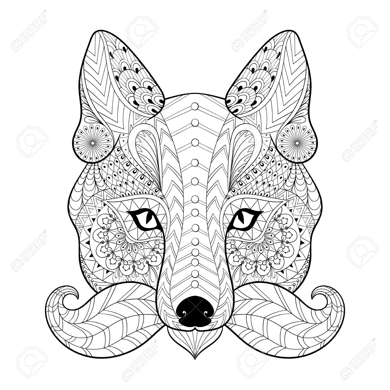 1300x1300 Fox Adult Coloring Pages Within