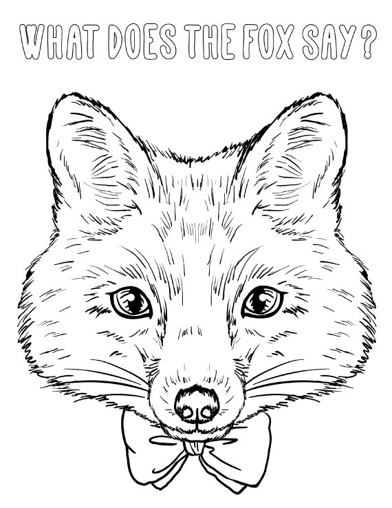 570x738 What Does The Fox Say Coloring Page For Adults Pdf
