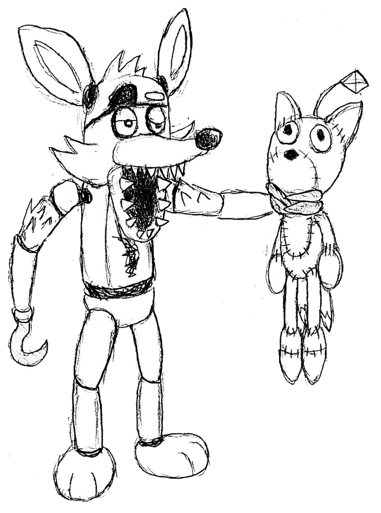 foxys family images fnaf coloring pages | Foxy Fnaf Drawing at GetDrawings.com | Free for personal ...