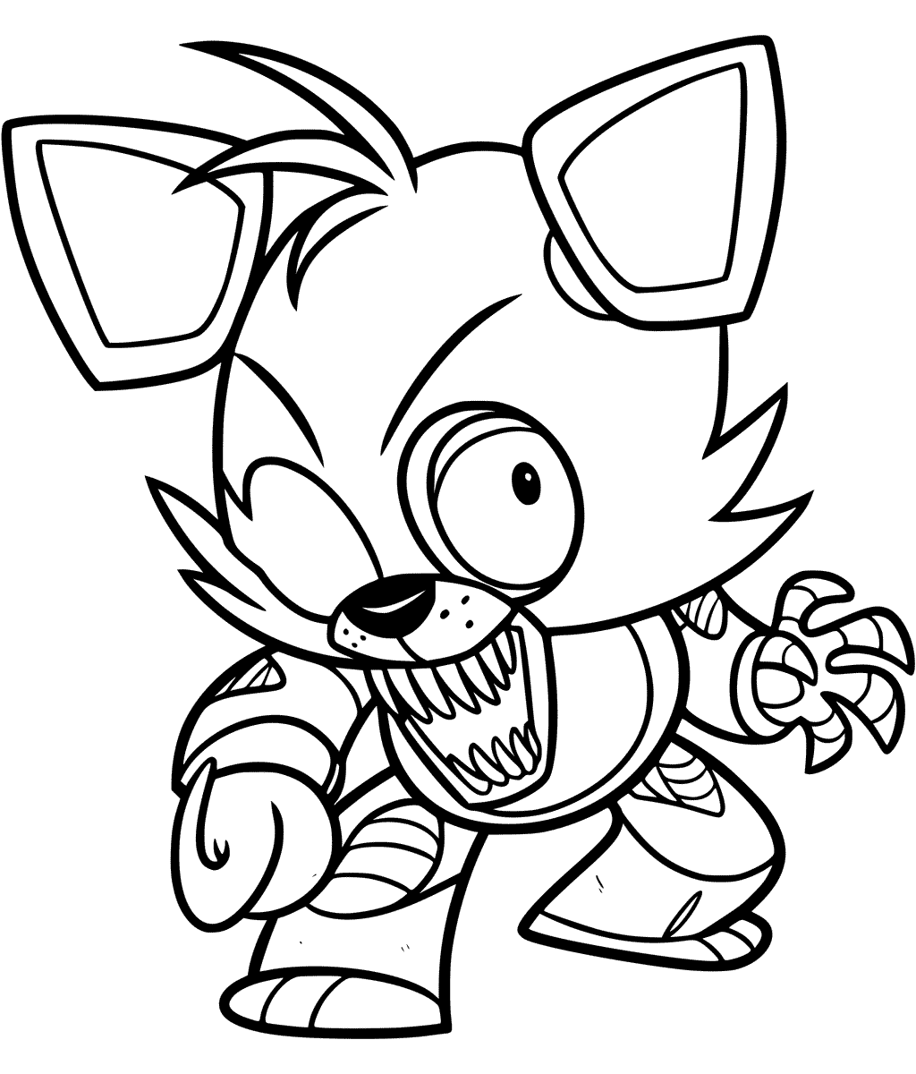 Foxy Coloring Page At GetDrawings