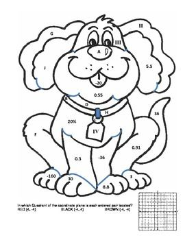 270x350 Fraction, Decimal, Percent, Integer Coloring Page Percents