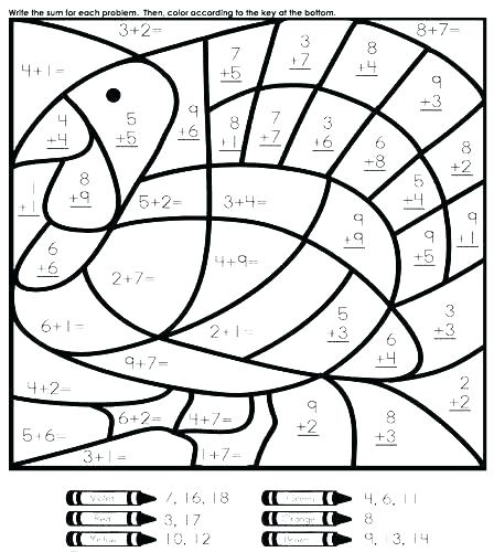 448x500 Math Coloring Pages Grade Fraction Coloring Sheets Also Math