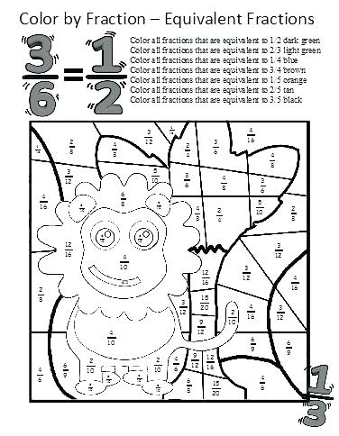 376x484 Christmas Math Coloring Sheets Grade Kids Coloring Fraction