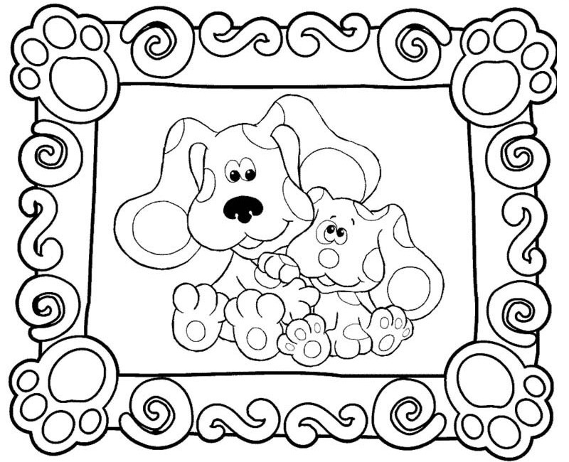 800x650 Blue's Clues Photo Frame To Color