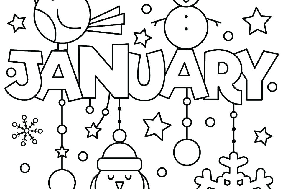 960x640 Picture Coloring Pages New Year Coloring Pages Printable Fun