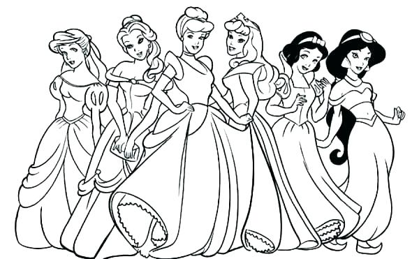 600x371 All Coloring Pages All Coloring Sheets Coloring Sheet Princess All
