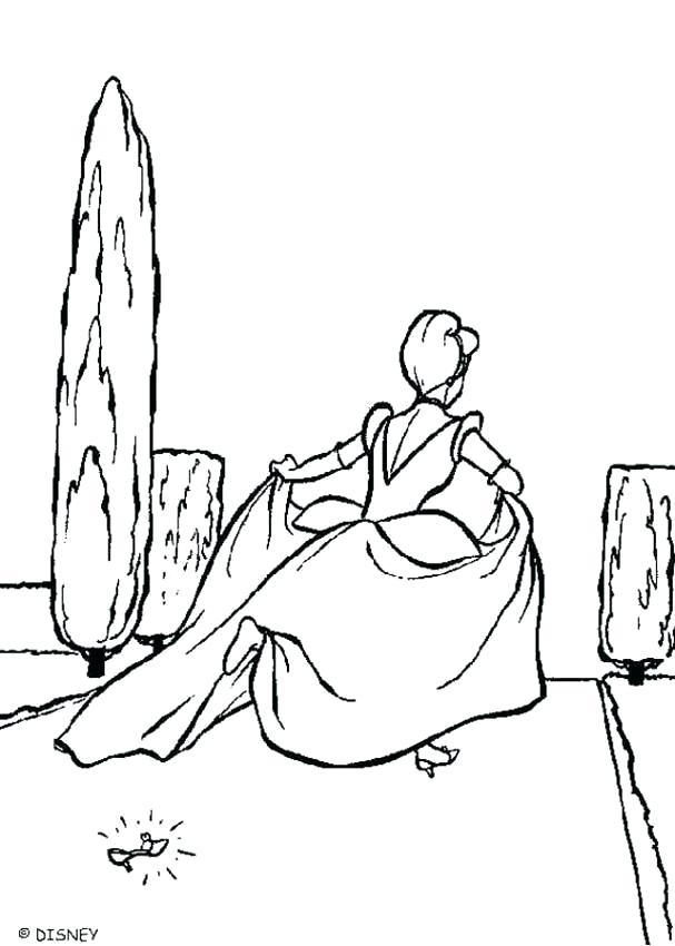 607x850 Picture To Coloring Page Ball Gown Slipper Coloring Page Coloring