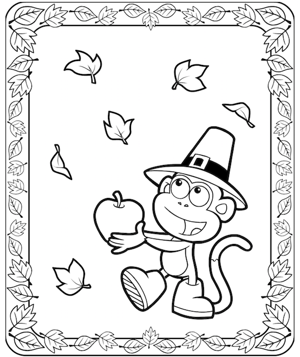 600x714 Fall Frame Colouring Pages