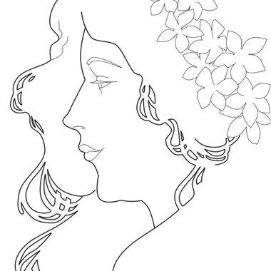 380x380 Art Nouveau Frame Coloring Pages, Art Nouveau Coloring Pages