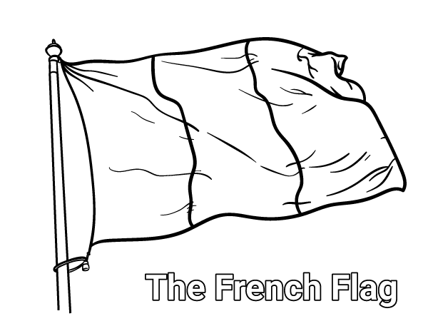 600x464 Free French Flag Coloring Page Download It