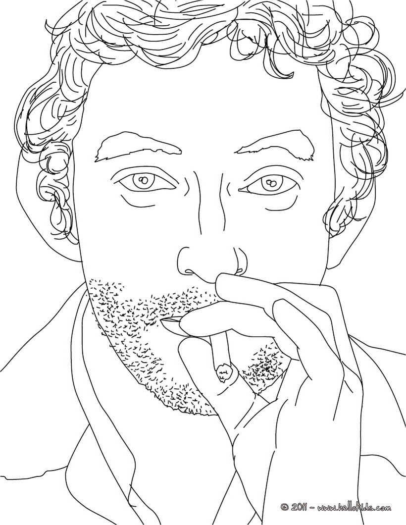 820x1060 French Coloring Pages