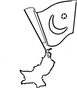 307x350 Free Pakistan Flag Coloring Pages Cartoon Coloring Pages