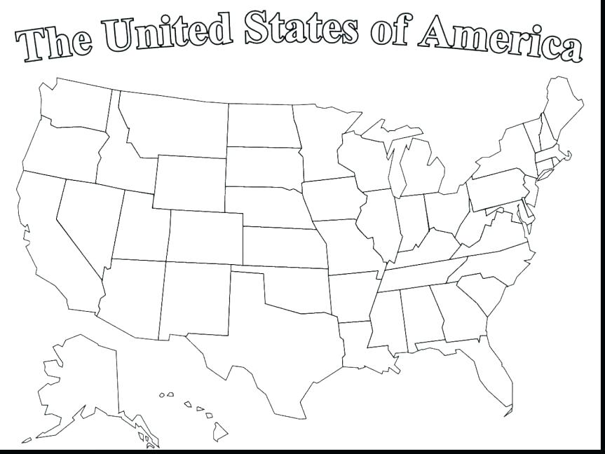 863x648 Flag Coloring Page Good United States Of Map Coloring Page French