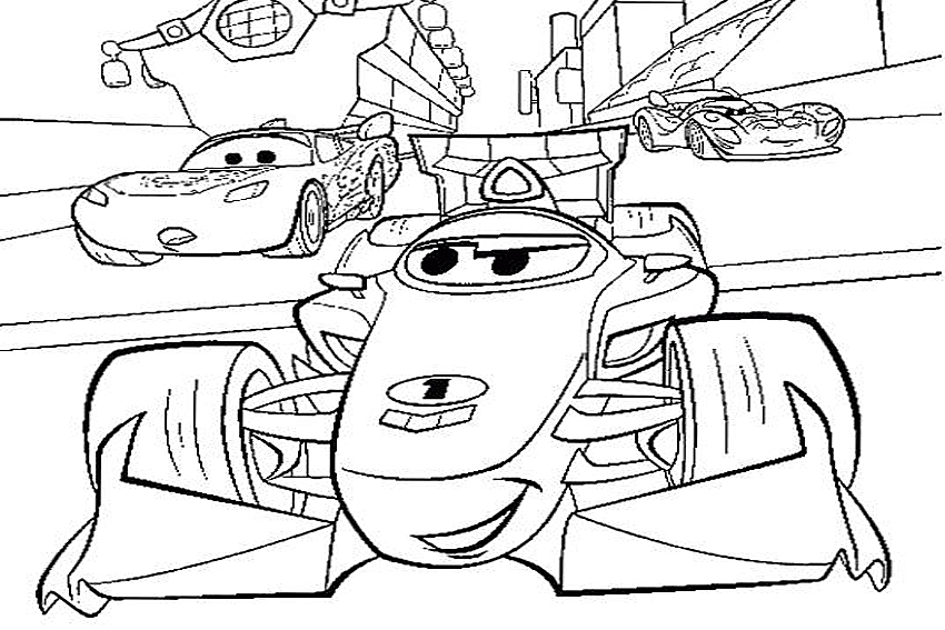 850x567 Coloring In Cars Coloring Pages From The Disney Movies